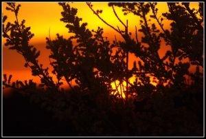 Ciel en feu sur la Charente
