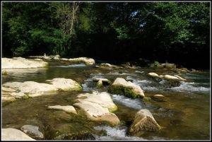 La rivière Hers prés de Camon
